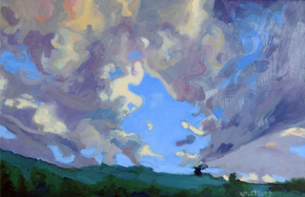 Forgotten Gate - Oil on Canvas by Ken Van Der Does