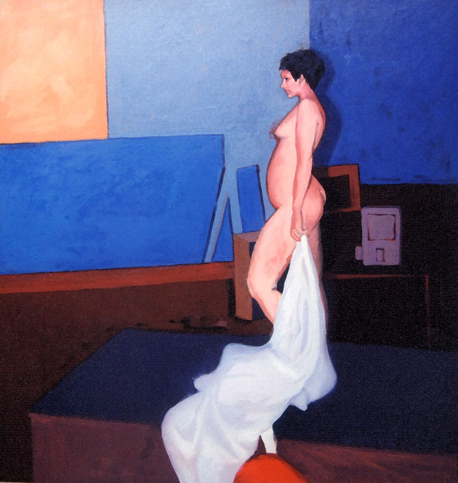 Modeling Girl - Painting by Ken Van Der Does