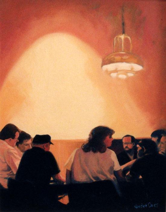 Rounders - Painting by Ken Van Der Does