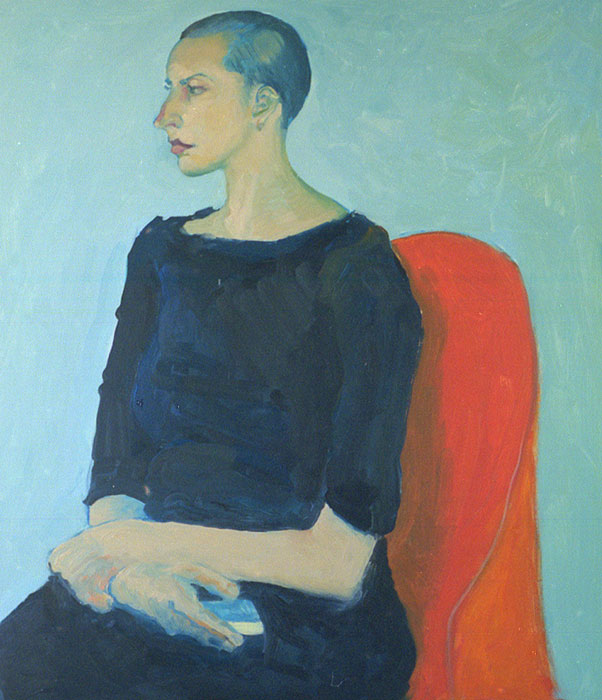 Woman with a Bar of Soap - Painting by Ken Van Der Does